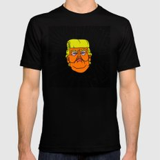 All Trump Knows is on the Internet Black MEDIUM Mens Fitted Tee