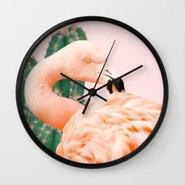 Flamingo & Cactus #society6 #decor #buyart Wall Clock