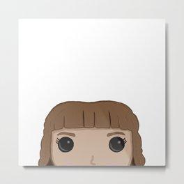 Hermione Granger - White Metal Print