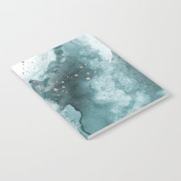 Watercolor meets Glitter - Turquoise Rose Gold - No 2 Notebook