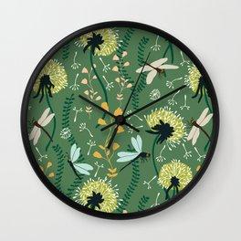 Dandelion Day Wall Clock