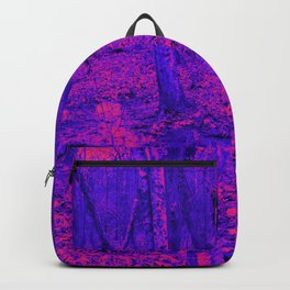 wet woods, red & blue Backpack