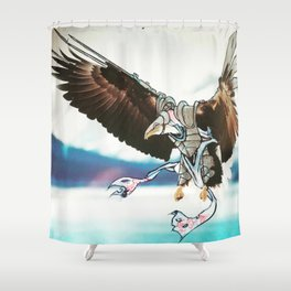 Birds In Armor 9 Shower Curtain