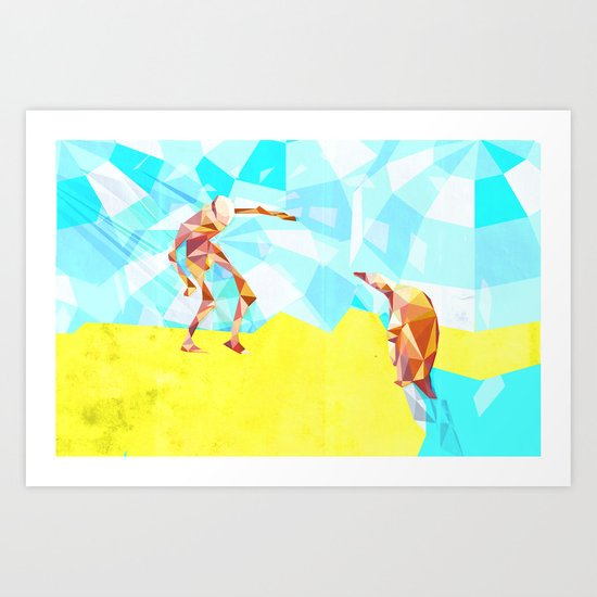 Electric Pinguin Art Print