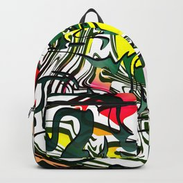 Abstract Colorful Ink Backpack