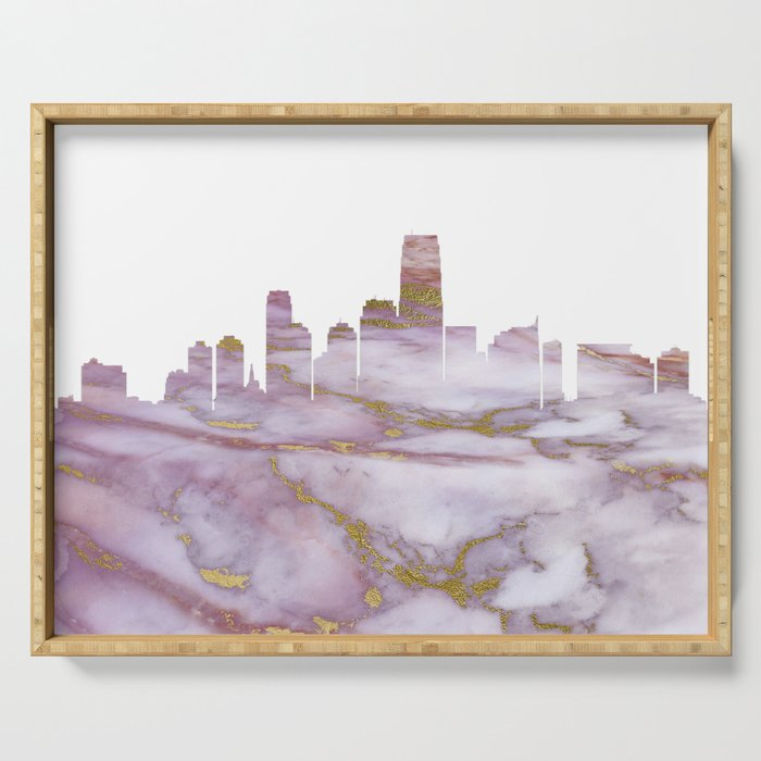 Jersey City New Jersey Serving Tray
