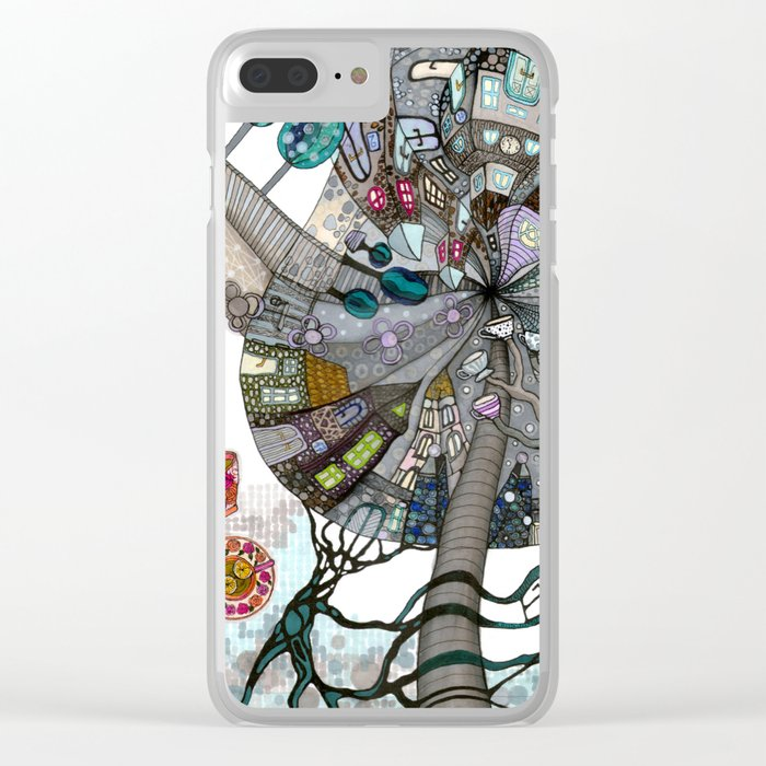 """I'ts always a tea time"" illustrated print Clear iPhone Case"