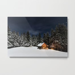 Cozy Cabin Metal Print
