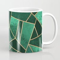 copper Mugs featuring Emerald and Copper by Elisabeth Fredriksson