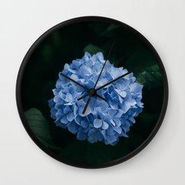 Blue Hydrangea Flower Wall Clock