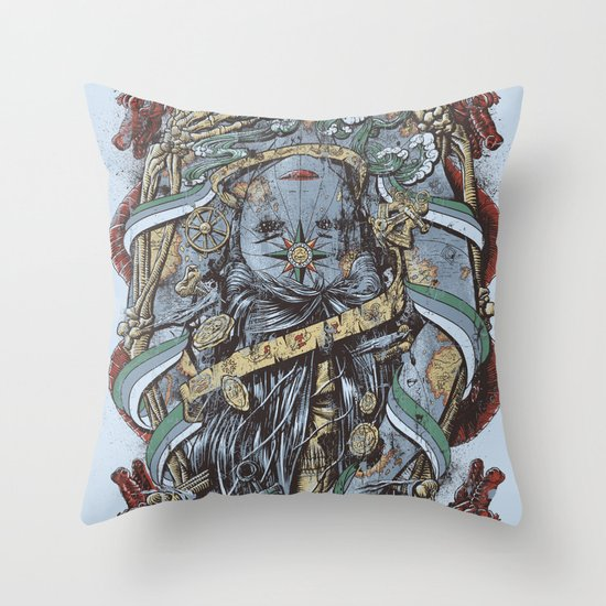 The Sailor & the Syren Throw Pillow