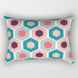 ikat honeycomb Pink #homedecor Rectangular Pillow