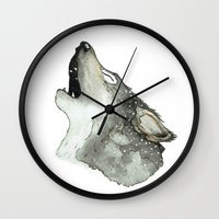 howl Wall Clocks featuring Howl by Katie Rosealea