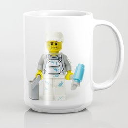 Painter painting Minifig with a roller and bucket Coffee Mug