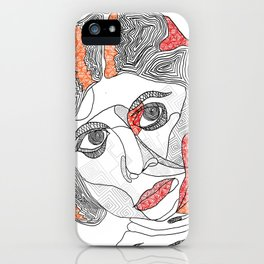 leia organa - abstract iPhone Case