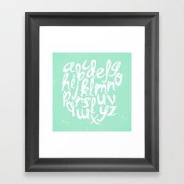 MINT ALPHABET Framed Art Print
