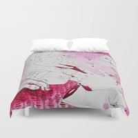 hands Duvet Covers featuring HANDS by Erin Shea