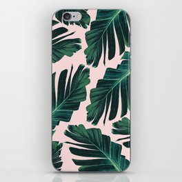 Tropical Blush Banana Leaves Dream #1 #decor #art #society6 iPhone Skin