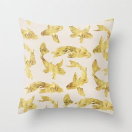 Gold fish Throw Pillow