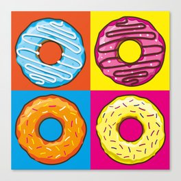 Donuts lovers Canvas Print