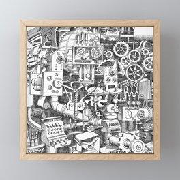 DINNER TIME FOR THE ROBOT Framed Mini Art Print