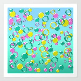 Abstract colorful bubbles 170 Art Print