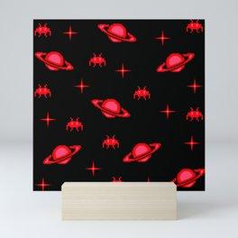 saturn invaders Mini Art Print
