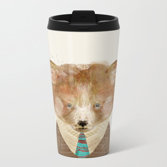 little red panda Metal Travel Mug