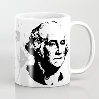 washington Mugs featuring WASHINGTON by b & c