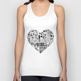 LIKES PATTERNS Unisex Tank Top