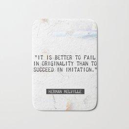 Herman Melville quote 2 Bath Mat