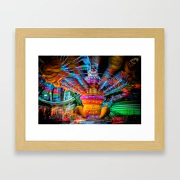 Cray Cray crazy fun at the carnival Framed Art Print