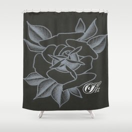 WhiteRose Shower Curtain