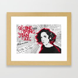 """Joan"" poster Framed Art Print"