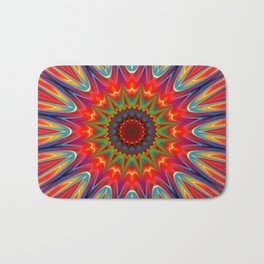 Colors kaleidoscope pattern Bath Mat