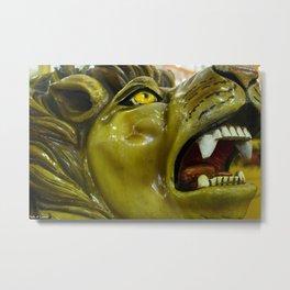 Carousel Lion Metal Print