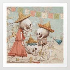 Mexican Skulls 3 Art Print