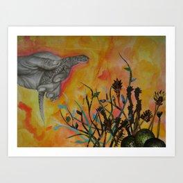 Avocado Lizard Art Print