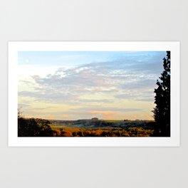 Countryside Moon Art Print