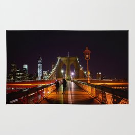Brooklyn Bridge at Night Rug