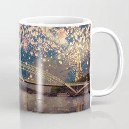 Love Wish Lanterns over Paris Coffee Mug