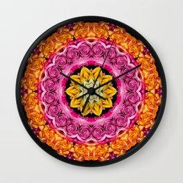 4 Color Rose Wall Clock