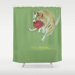 Dog Jump Shower Curtain