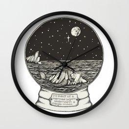 Mermaid Snow Globe Wall Clock