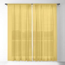 Marigold Vibrant Yellow Sheer Curtain