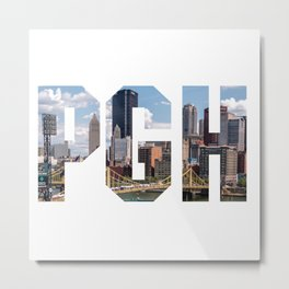 PITTSBURGH - The City Metal Print