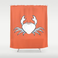crab Shower Curtains featuring Crab by Josè Sala