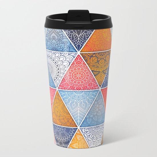 Pattern Mandala Losange Metal Travel Mug