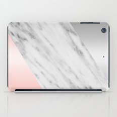 Pink Grey and Marble Collage iPad Case