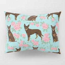 Kelpie florals dog breed cute gifts pattern dog lover pet portraits pet friendly designs Pillow Sham